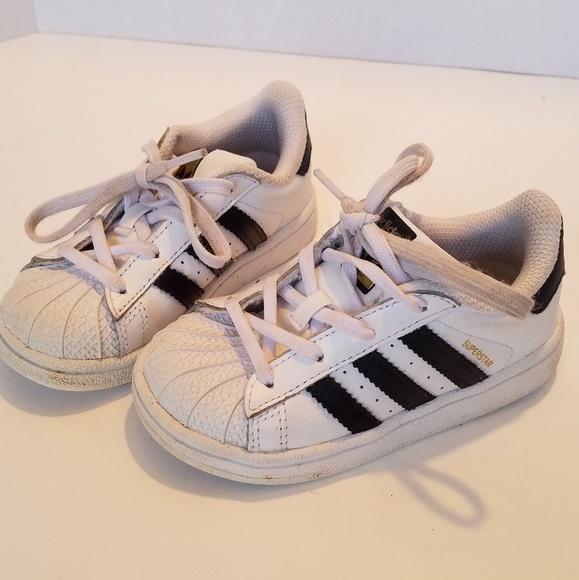 Baby Adidas Superstar Sneakers Black White